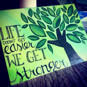 Handmade painted quotes on canvas board (to represent the rooted theme ...