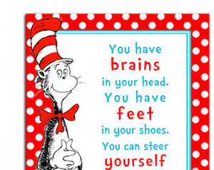 Dr. Seuss Quote Printable Wall Art, Cat in the Hat, Baby Shower Prop ...