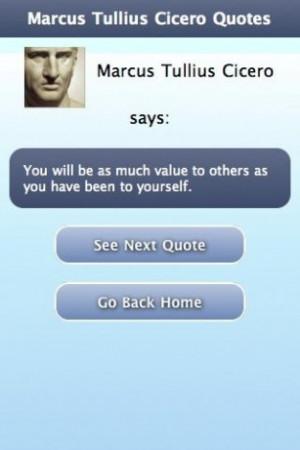 View bigger - Marcus Tullius Cicero Quotes for Android screenshot