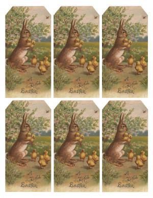 Vintage Easter Bunny & Chicks