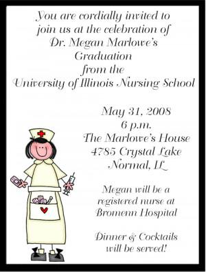 Shop our Store > Stick Figure Nurse Graduation Party Invitations