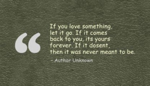 If You Love something,let it go ~ Break Up Quote