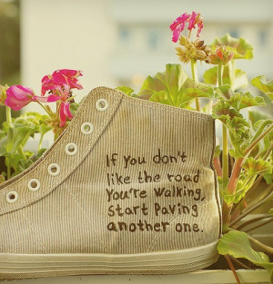 inspiring, nature, quotes, road, shoes, text