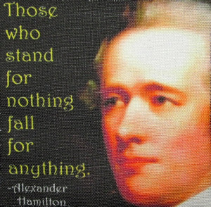 ALEXANDER HAMILTON QUOTE - Printed Patch - Sew On - Vest, Bag ...
