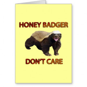 Honey Badger Don Care Funny