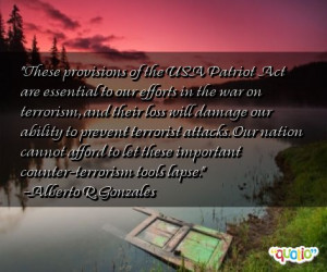 These provisions of the USA Patriot Act