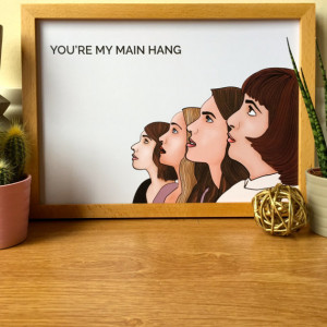 Girls HBO Illustration / Girls Quote / Main Hang Quote / Girls Drawing