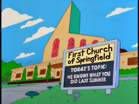 First Church of Springfield marquee