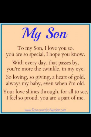 For my son - I will lu4e, I will lu4a