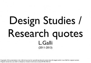 Design studies research quotes