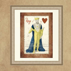 King of My Heart Printable 5x7 Quote Typography by Jabberdashery, $3 ...