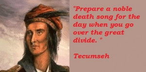 Tecumseh famous quotes 4