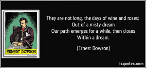 More Ernest Dowson Quotes