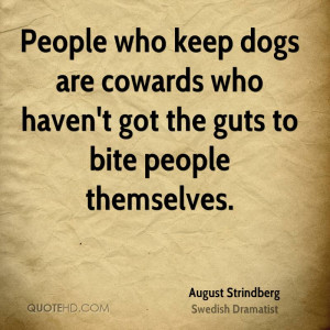 August Strindberg Pet Quotes