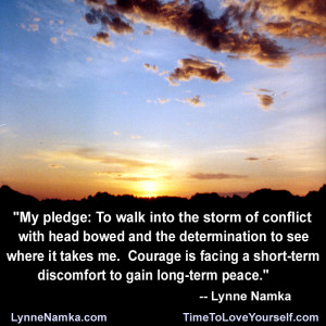 My Pledge To Walk Into The Storm Of Conflict With Head Bowed And The ...