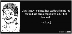 Like all New York hotel lady cashiers she had red hair and had been ...