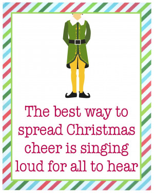 For more Buddy the Elf quotes and printables check out my Etsy shop ...