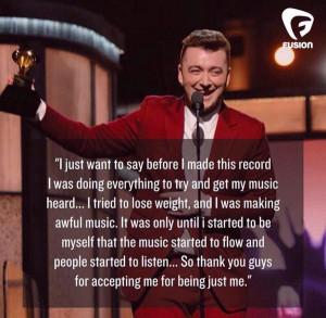 Great Grammy speech from Sam Smith http://t.co/mJICDGWtBa