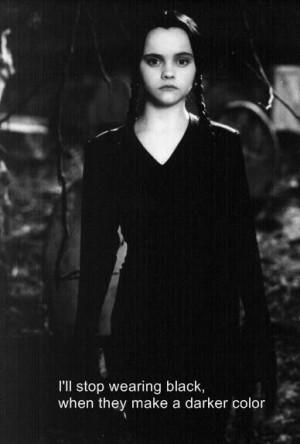 Wednesday Addams in black