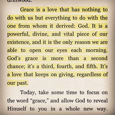 God's AMAZING GRACE!!! It is also HIS power to intervene for us ...