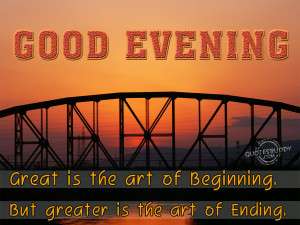 Good Evening Quotes Graphics, Pictures