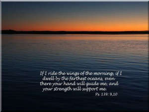 If I Ride the Wings of the Morning – Christian Quote
