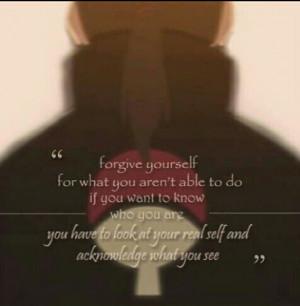 Itachi Uchiha. He's my favourite Naruto character. He taught me so ...