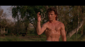 patrick swayze roadhouse roundhouse kick
