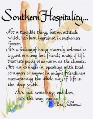 Southern Hospitality quotes via Carol's Country Sunshine on Facebook