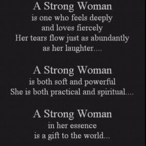 Strong woman YEP!!!