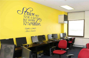 to Be A Success Albert Einstein Quote Home Classroom Vinyl Wall Decal ...