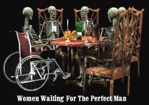 Women waiting for the perfect man.