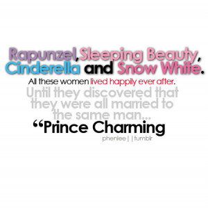 funny, happily ever after, lol, prince charming, quote, text