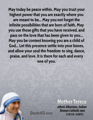 Mother Teresa Quotes Love