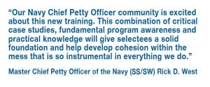 New Chief Petty Officers are Honed Through Selectee Training