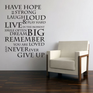 HAVE HOPE INSPIRATIONAL WALL STICKER QUOTE Saying
