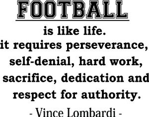 Football Quotes Vince Lombardi