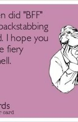 Backstabbing Friends Quotes
