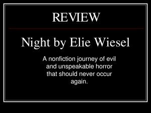 Night by Elie Wiesel REVIEW by liuhongmei