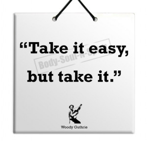Woody Guthrie - Take It - Quote Ceramic Sculpture Wall Hanging Plaque ...