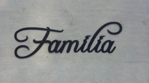 Familia Spanish Word For Family Decorative Metal Wall Art