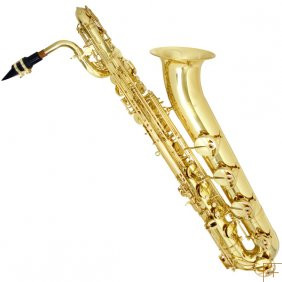 Baritone Saxophone with Gold Lacquered Body and Keys