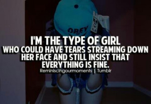 cute, girls, im the type of girl, pretty, quote, quotes