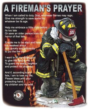 The Fireman's Prayer