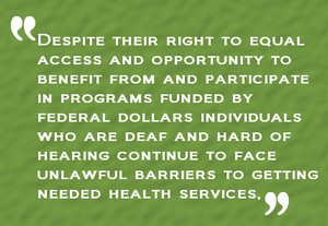 HHS Ensures Americans with Disabilities Act is Being Followed