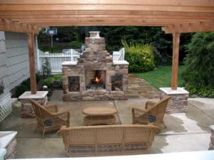 Pergola Designs With Fireplace