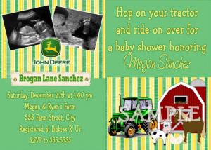 John deere baby shower invitations free