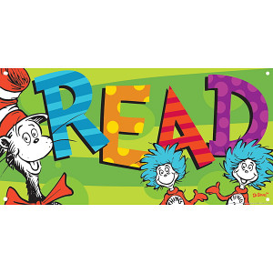 Dr. Seuss™ Reading Is Our Thing Vinyl Banner