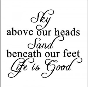 Sky above our heads...Beach Wall Quote Words Sayings Removable ...