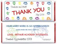 Kids Faces Teacher Appreciation Candy Bar Wrapper